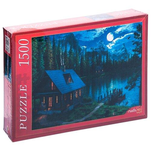 Купить Пазл Рыжий кот Доминик Дэвисон Ночное озеро в лесу (МГ1500-8470), 1500 дет., Пазлы