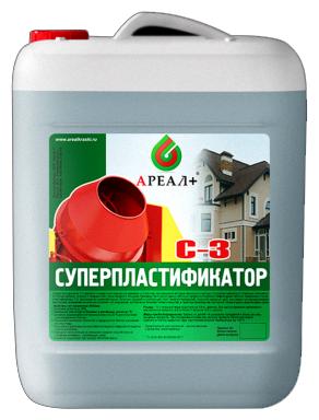 Добавка пластификатор Ареал+ С-3 Стандарт 10 л