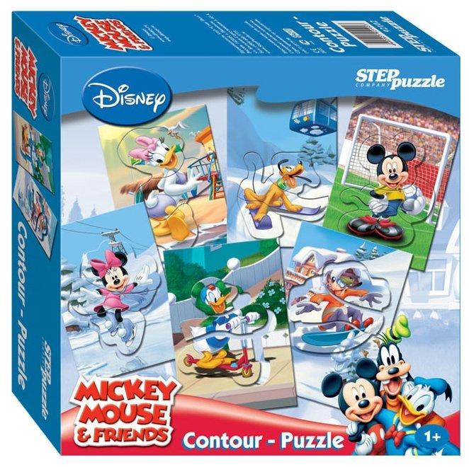 Набор рамок-вкладышей Step puzzle Disney Микки Маус (92102)
