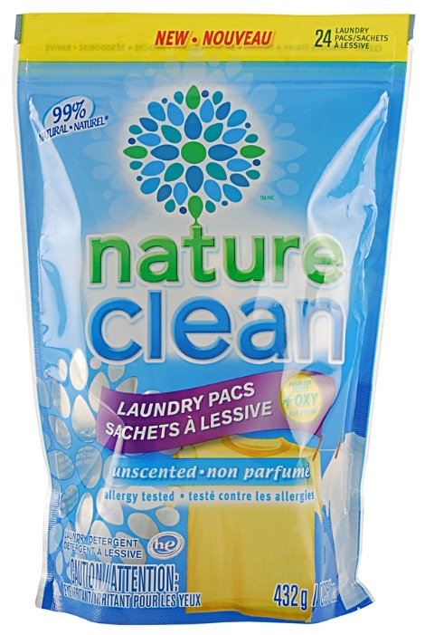 Капсулы Nature Clean Laundry Pacs Non Parfum