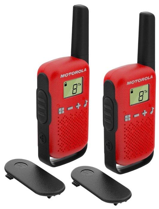 Рация Motorola Talkabout T42 Twin Pack красный/черный
