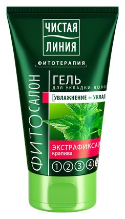 Чистая линия ФИТОСАЛОН гель для укладки волос ЭКСТРАФИКСАЦИЯ крапива