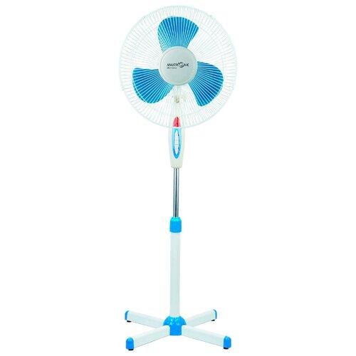 Напольный вентилятор Maxtronic MAX-1619 белый/голубой
