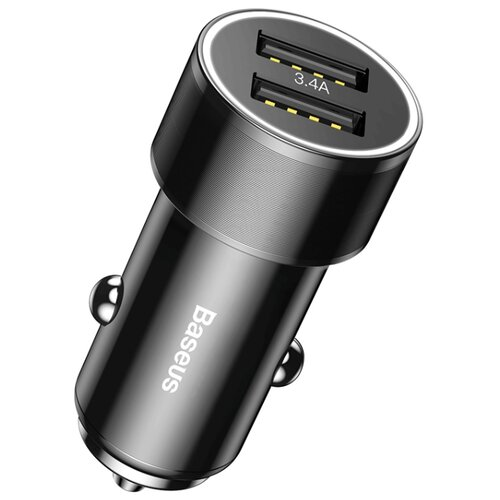 Автомобильная зарядка Baseus Small Screw 3.4A Dual Lightning Car Charging Set TZXLD-A01 черный автомобильная зарядка baseus ccall gc01 gc09 черный