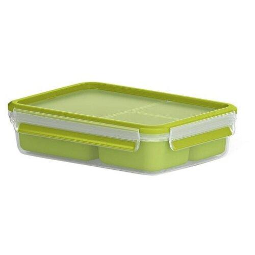 EMSA Контейнер для перекусов 518100 зеленый/прозрачный фляжка для питья детская 0 4л emsa