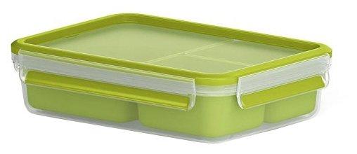 EMSA Контейнер для перекусов 518100 зеленый/прозрачный