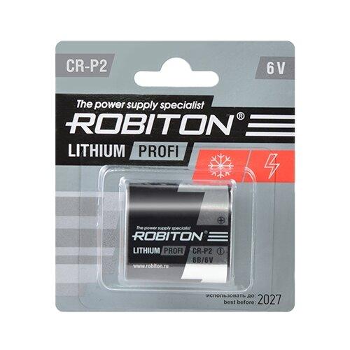 Фото - Батарейка ROBITON Lithium Profi CR-P2 1 шт блистер элемент питания robiton profi 2cr5 блистер 1шт