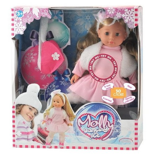 Купить Кукла Dimian Bambolina Фигуристка Molly (звук), 40 см, BD1386RU-M37, Куклы и пупсы