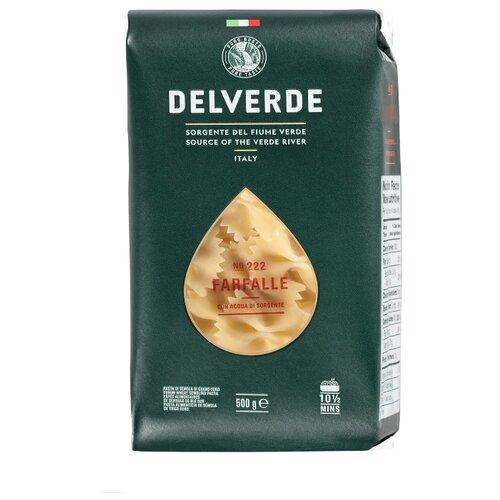Delverde Industrie Alimentari Spa Макароны № 222 Farfalle, 500 г макароны delverde spaghetti 141 с отрубями био 500 г