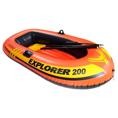цена на Надувная лодка Intex Explorer-200 Set (58331) оранжевый