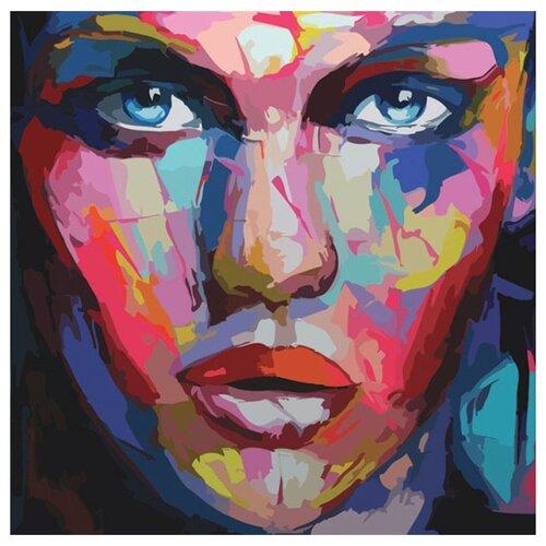 """Color Kit Картина по номерам """"Абстрактный портрет женский"""" 30х30 см (CD006)"""