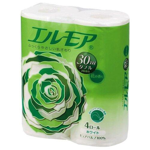 Купить Туалетная бумага Ellemoi белая двухслойная с цветочным ароматом 4 рул.