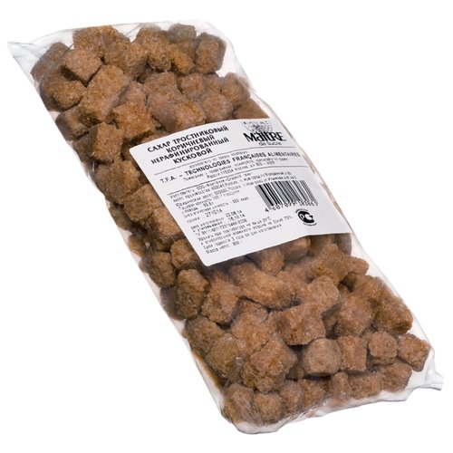Сахар Maitre Тростниковый коричневый кусковой, пакет 0.8 кг