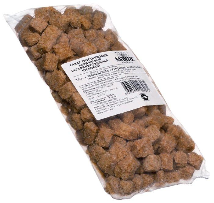 Сахар MAITRE тростниковый коричневый кусковой, 800 гр.