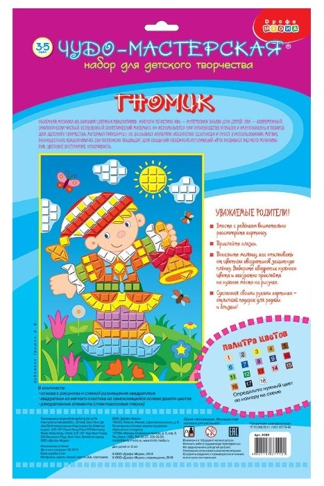 Дрофа-Медиа Разноцветная мозаика д/м. Гномик (2682)