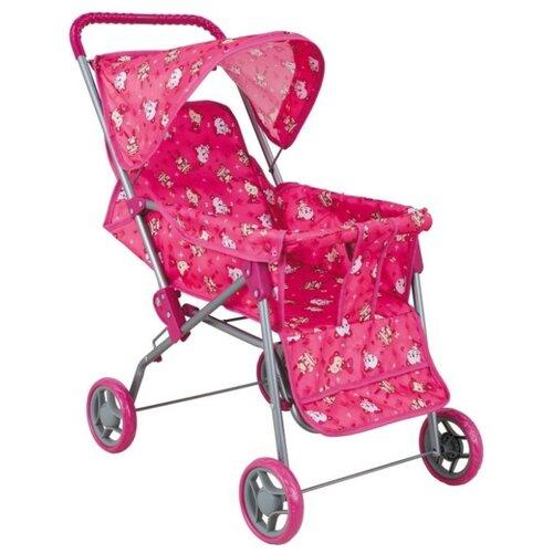 Купить Прогулочная коляска Buggy Boom Mixy (8026) розовый/мишки, Коляски для кукол
