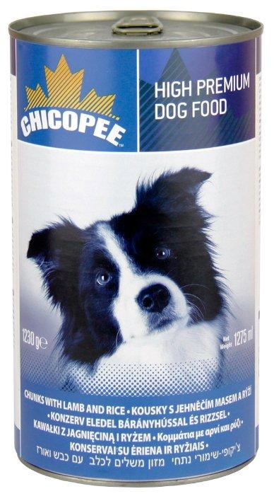 Корм для собак Chicopee Консервы для собак: мясные кусочки с ягненком и рисом