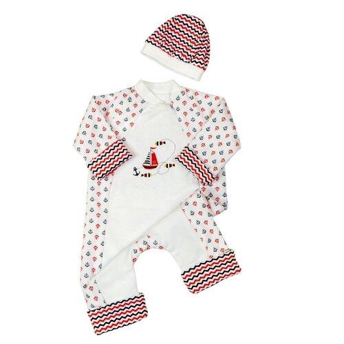 Комплект одежды Сонный Гномик размер 74, белыйКомплекты<br>