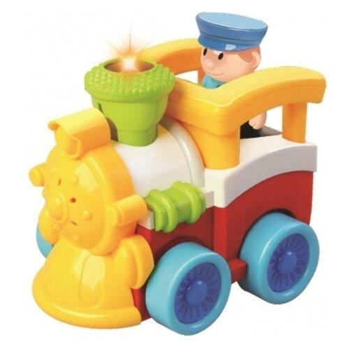 Купить Машинка Жирафики Паравозик (939501) 14 см красный/желтый/белый, Радиоуправляемые игрушки