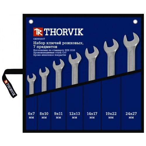 Фото - Набор гаечных ключей Thorvik OEWS007, 7 предм. набор гаечных ключей thorvik 6 предм orws006