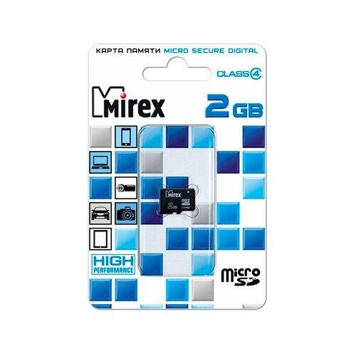 Фото - Карта памяти Mirex microSD Class 4 2GB yg 168 1