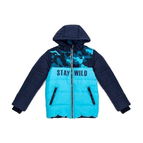 Купить Куртка playToday Каменные джунгли 381051 размер 110, темно-синий/ синий, Куртки и пуховики