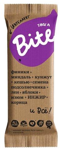 Фруктовый батончик Bite Интеллект без сахара Миндаль с яблоком и корицей, 45 г