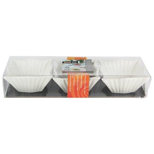 Коралл Набор салатников 8.5 см, 3 шт. белыйБлюда и салатники<br>