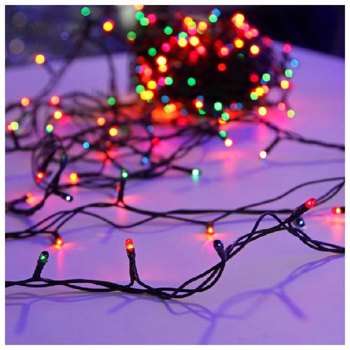 Гирлянда Sh Lights 250 см ITW050F-M, 50 ламп, разноцветные диоды/зеленый провод гирлянда sh lights 250 см