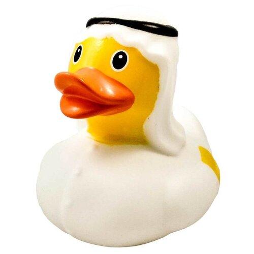 Купить Игрушка для ванной FUNNY DUCKS Шейх уточка (1853) белый/желтый, Игрушки для ванной