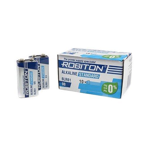 Батарейка ROBITON Alkaline Standart 6LR61 Крона 10 шт картон