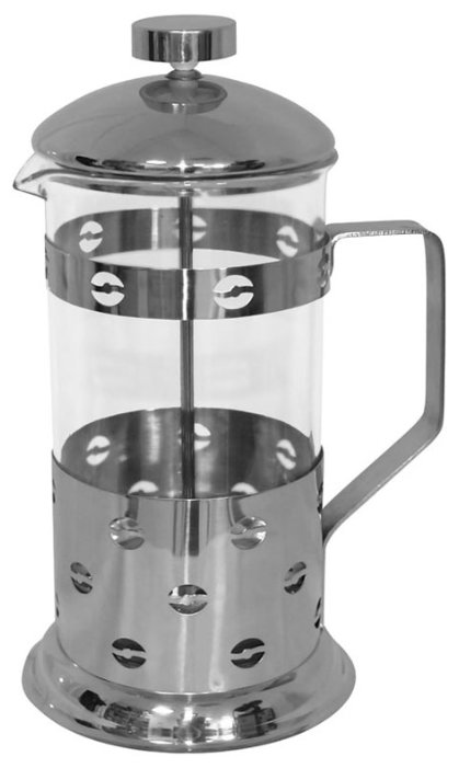 Френч-пресс Mallony Caffè 950145 (0,35 л) серебристый