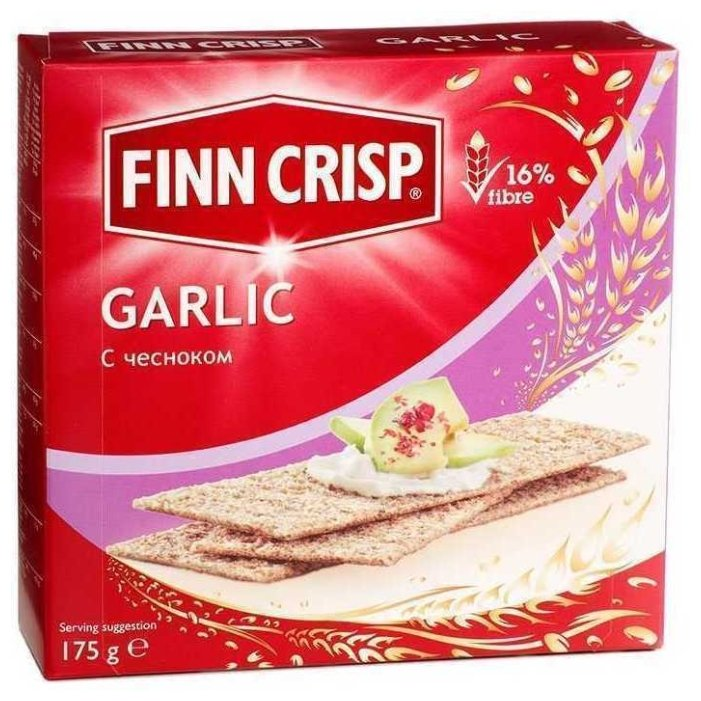 Сухарики Finn Crisp с чесноком 175г