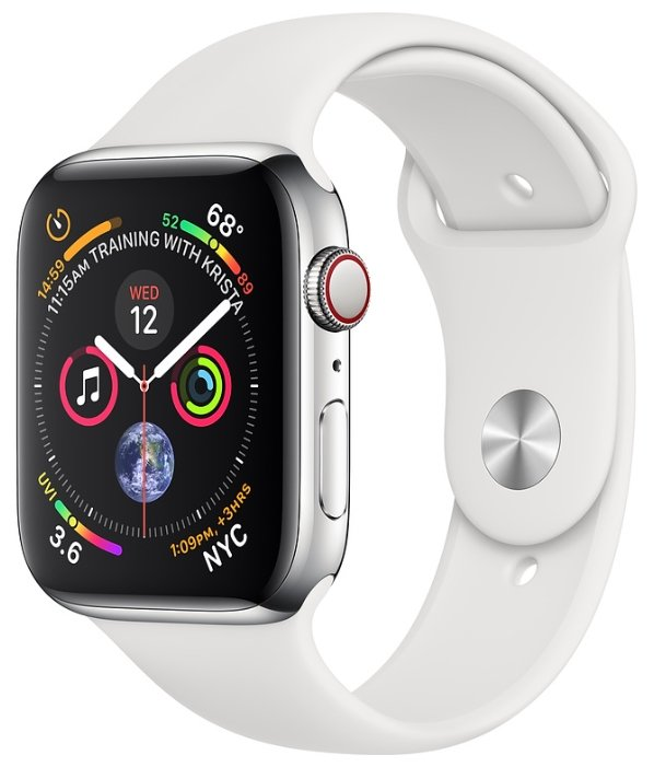 Apple Часы Apple Watch Series 4 GPS + Cellular 40mm Stainless Steel Case with Sport Band