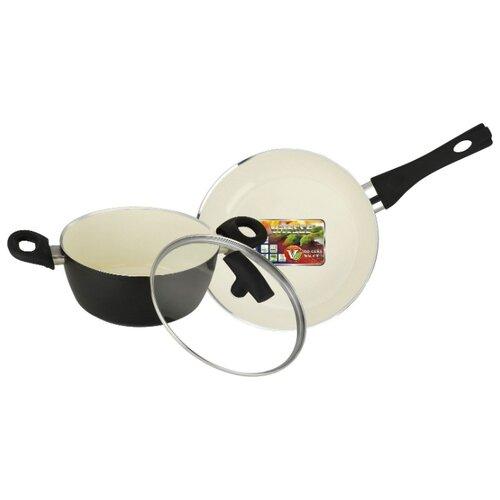 Набор посуды Vitesse VS-2900 3 пр. черный/бежевый набор посуды vitesse vs 2901 4