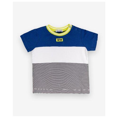 Купить Футболка Gulliver Baby размер 86-92, синий/белый, Футболки и рубашки