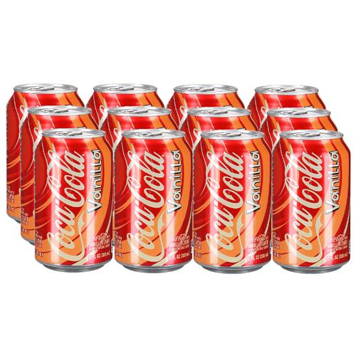 Газированный напиток Coca-Cola Vanilla, США, 0.355 л, 12 шт. газированный напиток coca cola vanilla сша 0 355 л 12 шт