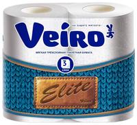 Туалетная бумага Veiro Elite белая трёхслойная 4 шт.