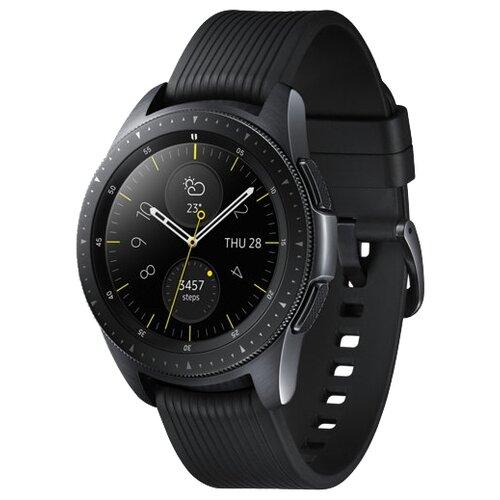 Часы Samsung Galaxy Watch (42 mm) midnight black/onyx black комбинезон la redoute на тонких бретелях с принтом мес 18 мес 81 см другие