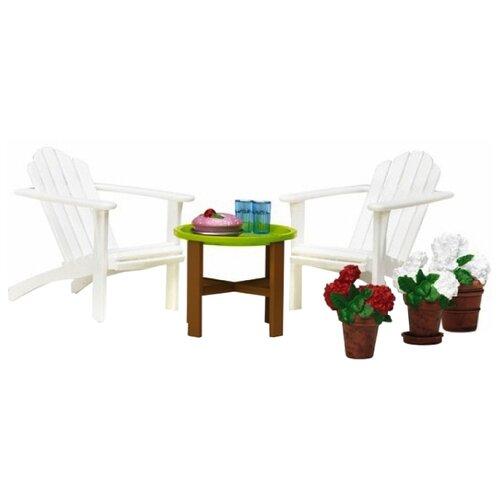 Купить Lundby Садовый комплект Смоланд (LB_60304900) белый/коричневый, Мебель для кукол