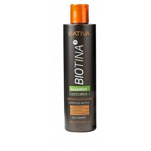 Kativa шампунь Biotina против выпадения волос 250 мл шампунь коллагеновый kativa