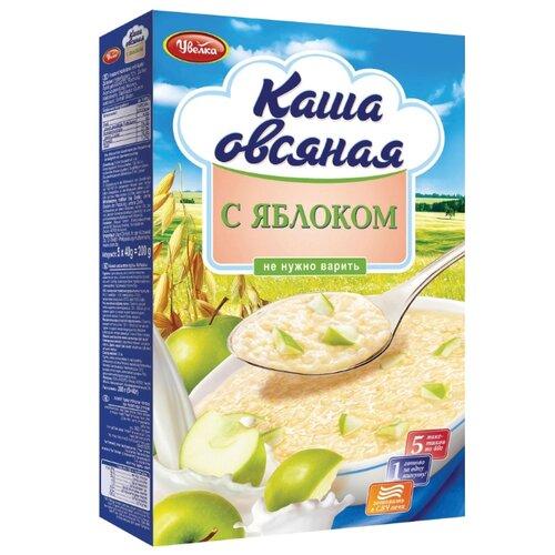 Увелка Каша овсяная быстрого приготовления с яблоком, порционная (5 шт.)