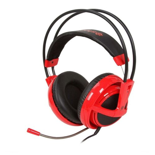 цена на Компьютерная гарнитура SteelSeries Siberia Full-size Headset v2 красный
