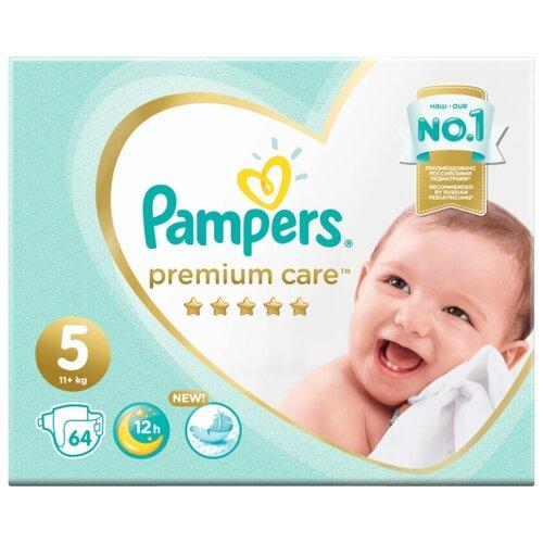 Купить Pampers подгузники Premium Care 5 (11+ кг) 64 шт., Подгузники