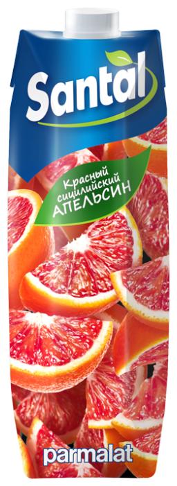 Напиток сокосодержащий Santal Красный сицилийский апельсин, с крышкой, 1 л