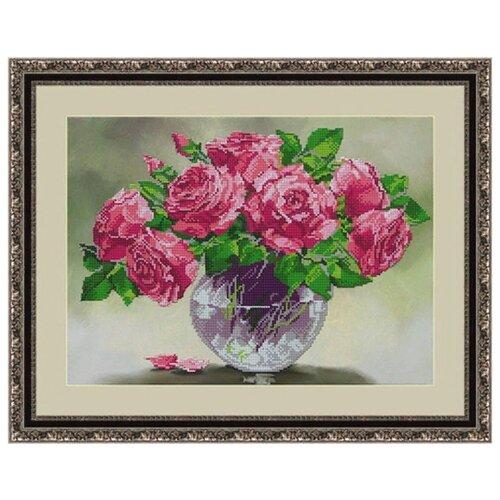 Galla Collection Набор для вышивания бисером Розовый шарм 40 х 29 см (Л337)Наборы для вышивания<br>