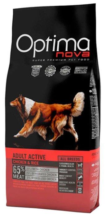 Корм для собак OptimaNova Adult Dog Active Chicken & Rice