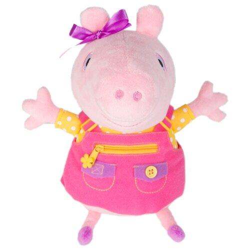 Купить Мягкая игрушка РОСМЭН Peppa pig Пеппа учит одеваться 25 см, Мягкие игрушки