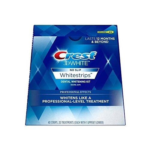 Crest отбеливающие полоски 3D White Professional Effects 40 штПолоскание и уход за полостью рта<br>