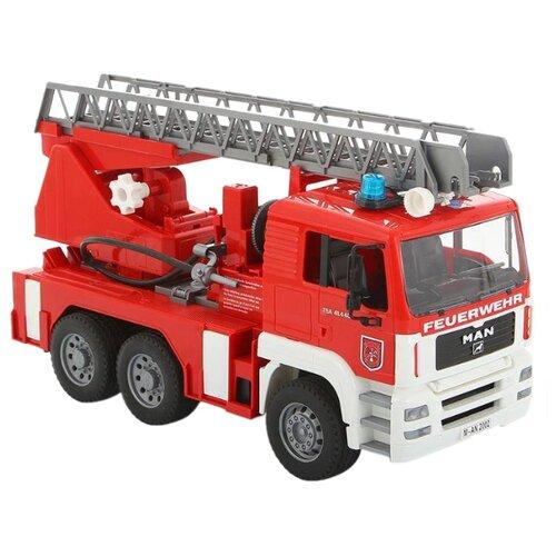 Купить Пожарный автомобиль Bruder MAN с лестницей и помпой (02-771) 1:16 47 см красный, Машинки и техника